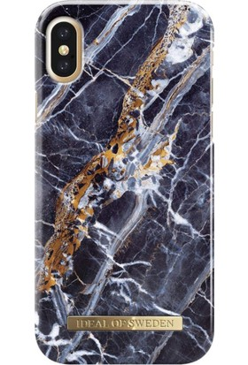 iDeal of Sweden iPhone X Midnight Blue Marble Arka Kapak