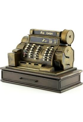 Vintage Metal Para Sayma Makinesi Tasarımlı Kumbara