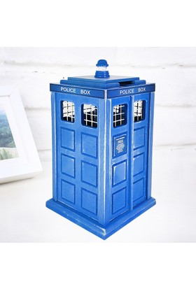 Doktor Who Tardis Tasarımlı Ahşap Kumbara