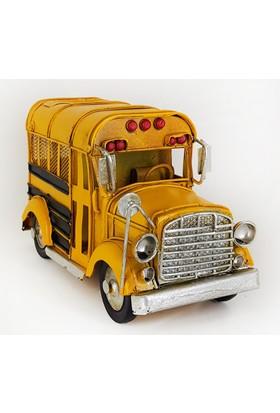 Okul Otobüsü Tasarımlı Metal Kumbara