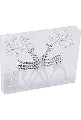 KullanAtMarket Gümüş Geyik Dekor Süs 15 cm