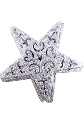 KullanAtMarket Gümüş Yıldız Asma Süs 13 cm