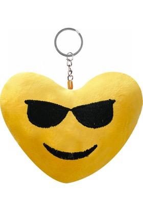 KullanAtMarket Güneş Gözlüklü Kalp Şeklinde Emoji Anahtarlık