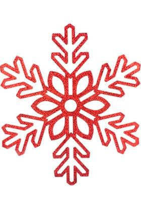 KullanAtMarket Kar Tanesi Kırmızı 40 cm