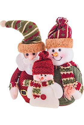 KullanAtMarket Noel Baba Ve Kardan Adam Yılbaşı Dekor Süs