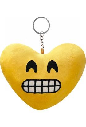 KullanAtMarket Sırıtan Kalp Şeklinde Emoji Anahtarlık