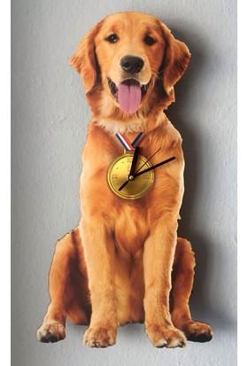 Markakanvas Golden Sallanır Sarkaçlı Duvar Saati