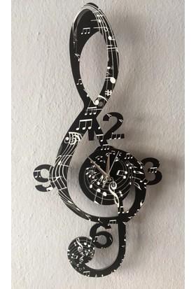 Markakanvas Nota , Sol Anahtarı Dekoratif Duvar Saati