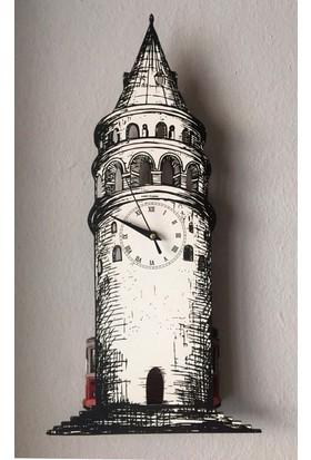 Markakanvas Galata Kulesi -Sallanan Sarkaçlı Duvar Saati