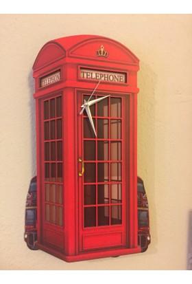 Markakanvas London Kulübe - Sallanan Sarkaçlı Duvar Saati