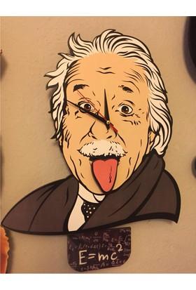Markakanvas Einstein Temalı Sallanır Sarkaçlı Duvar Saati
