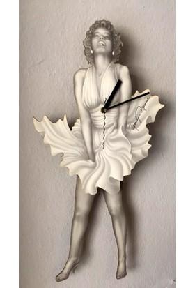 Markakanvas Marilyn Monroe Sallanan Duvar Saati