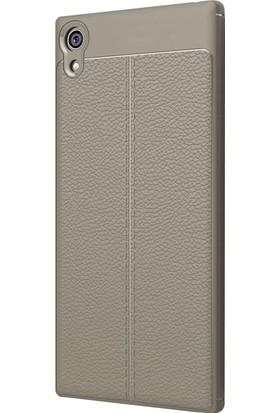 Microsonic Sony Xperia XA1 Ultra Kılıf Suni Deri Dokulu Silikon