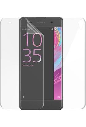 Microsonic Sony Xperia XA Ön + Arka Kavisler Dahil Tam Ekran Kaplayıcı Film