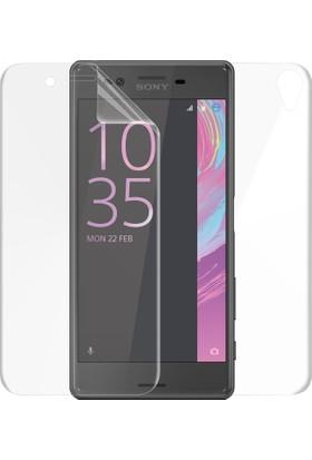 Microsonic Sony Xperia X Ön + Arka Kavisler Dahil Tam Ekran Kaplayıcı Film