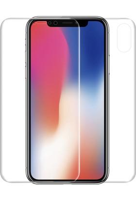 Microsonic Apple iPhone X Ön + Arka Kavisler Dahil Tam Ekran Kaplayıcı Film