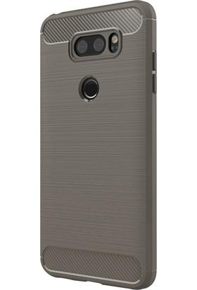 Microsonic LG V30 Plus Kılıf Room Silikon Gri