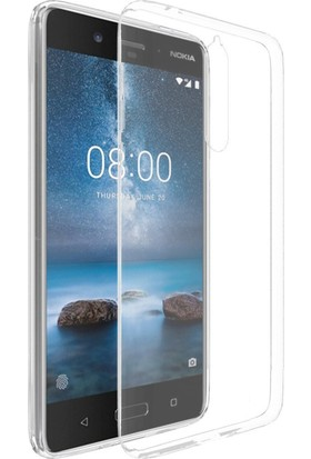 Microsonic Nokia 8 Kılıf Transparent Soft