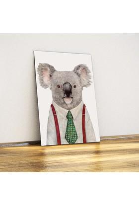 Koala (Hipster) - Dekoratif Metal Plaka