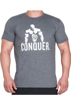 Supplementler Posing Conquer T-Shirt - Koyu Gri
