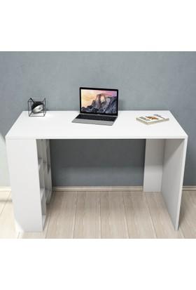 İnci Çalışma Masası-Beyaz-Beyaz