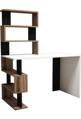Snap Maxi Çalışma Masası-Beyaz-Çırağan-Siyah