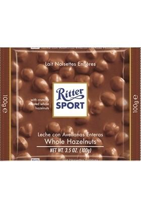 Rıtter Sport Whole Hazelnuts Milk Bütün Fındıklı Sütlü Çikolata 100 gr
