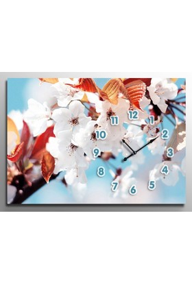 ArtRedGallery Saatli Tablo - Çiçek Duvar Saati