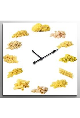 ArtRedGallery Yiyecek İçecek Saatli Kanvas Tablo - Duvar Saati