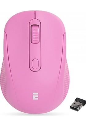 Everest Sm-300 Usb Pembe 4D Optik Süper Sessiz Alkalin Pil Kablosuz Mouse