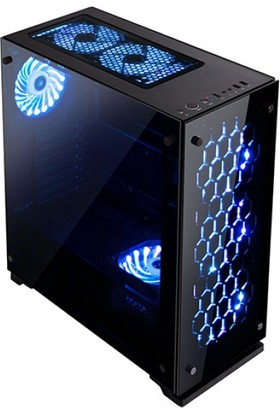 Rampage Majesty Tempered Glass Cam 3*120Mm Rgb Led Fan Usb3.0 + 2*Usb2.0 Pencereli Kasa