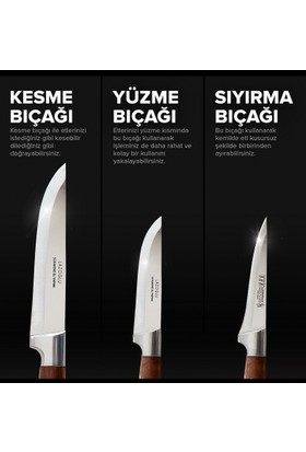 Kasap Bıçağı 3 Lü Set Lazoğlu Sürmene