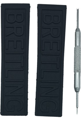 Breitling Diver Pro III Uyumlu 22x20mm Siyah Silikon Saat Kordonu