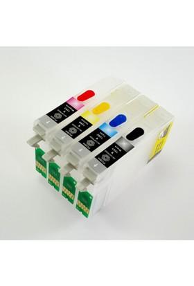 cescesor Epson T0711-T0714 Uyumlu Kartuş Dolum Seti - 4 Renk