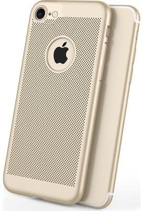 Case 4U Apple iPhone SE / 5 / 5S Kılıf Delikli Sert Arka Kapak Altın