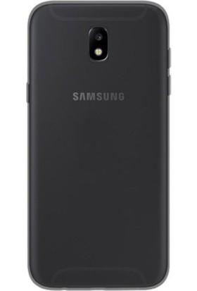 Case 4U Samsung Galaxy J5 Pro 2017 Kılıf 2 mm Silikon Arka Kapak Siyah / Füme