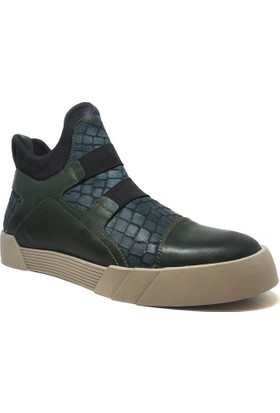 Shop and Shoes Erkek Bot Yeşil Kroko 152-F3415