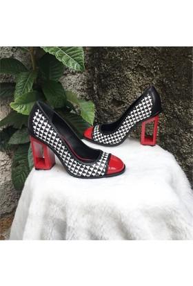 Shop and Shoes Bayan Ayakkabı Kırmızı Rugan 104-150A02