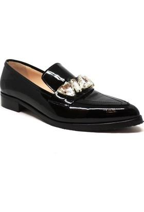 Shop and Shoes Bayan Ayakkabı Siyah Rugan 178-T7249