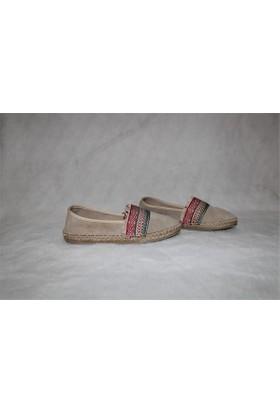 Shop and Shoes Bayan Ayakkabı Bej Süet 010-1607