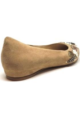 Shop and Shoes Bayan Babet Bej Süet 129-3000