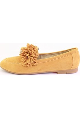 Shop and Shoes 1731901 Taba Süet Kadın Babet