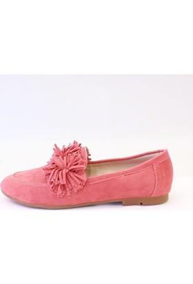 Shop and Shoes Bayan Babet Mercan Süet 173-1901