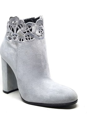 Shop and Shoes Bayan Bot Gri Süet 005-486-8