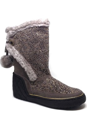 Shop and Shoes Bayan Bot Vizon Süet 121-1709701
