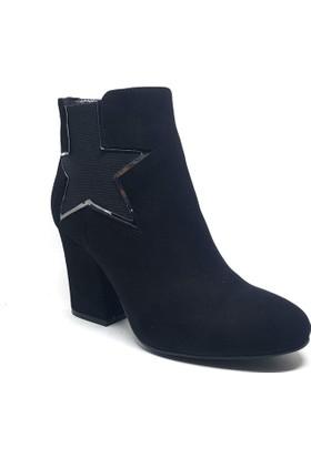Shop and Shoes Bayan Bot Siyah Süet 122-2432