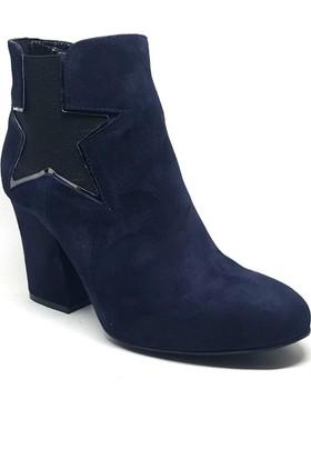 Shop and Shoes Bayan Bot Lacivert Süet 122-2432