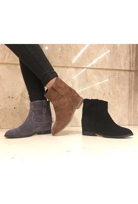 Shop and Shoes Bayan Bot Siyah Süet 122-516