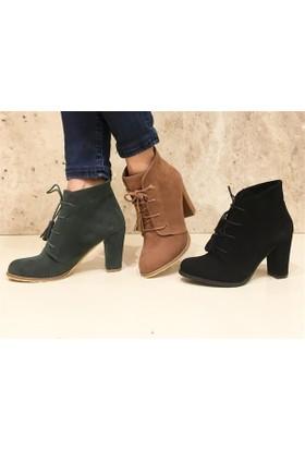 Shop and Shoes Bayan Bot Siyah Süet 156-400