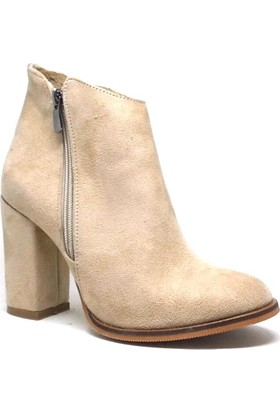 Shop and Shoes Bayan Bot Bej Süet 164-560-Y